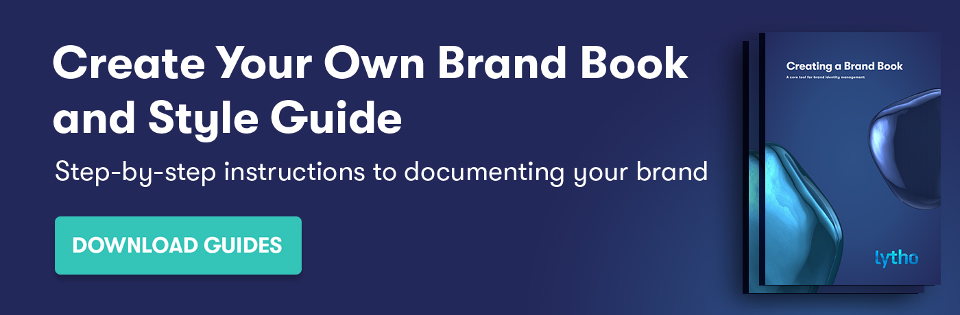 create your own brand book and style guide banner