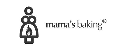 mama's baking logo on fire
