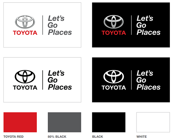 Toyota Brand Book / Style Guide example