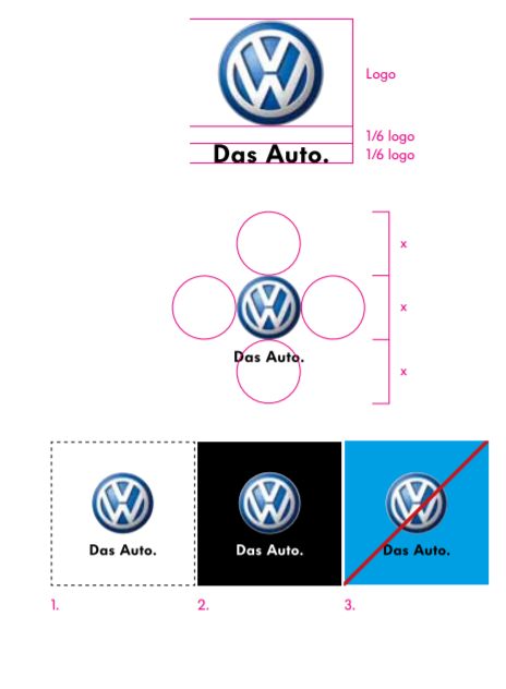 Volkswagen Brand Book / Style Guide example