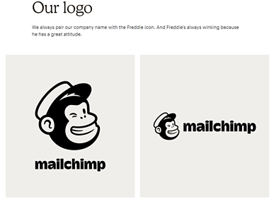 Mailchimp  Brand Book / Style Guide example
