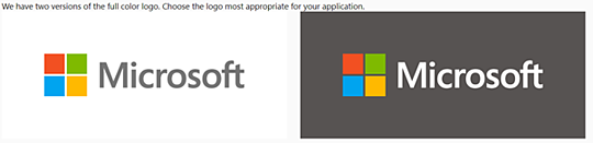 Microsoft Brand Book / Style Guide example