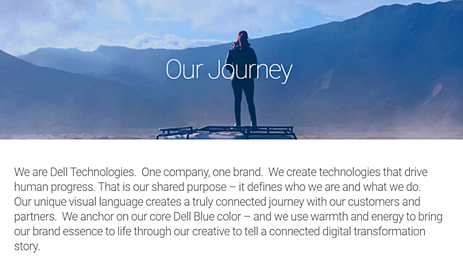 Dell Brand Book / Style Guide example