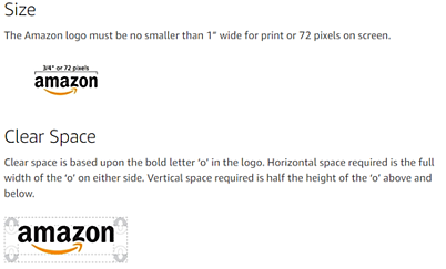 Amazon Brand Book / Style Guide example