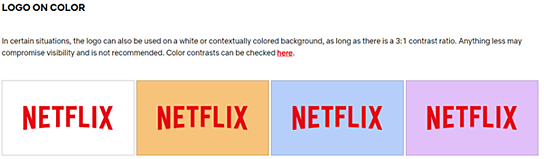 Netflix Brand Book / Style Guide example