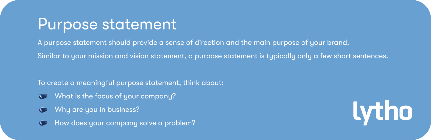 what is a purpose statement