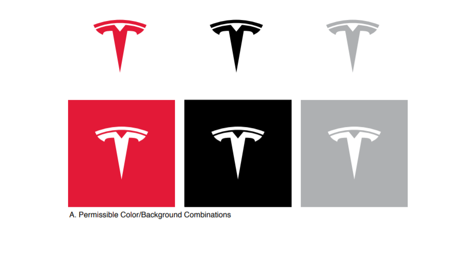 Tesla Brand Book / Style Guide example
